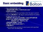 basic embedding
