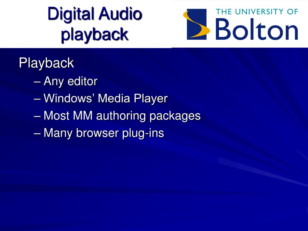 Digital Audio playback