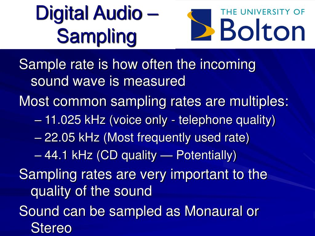 Digital Audio – Sampling