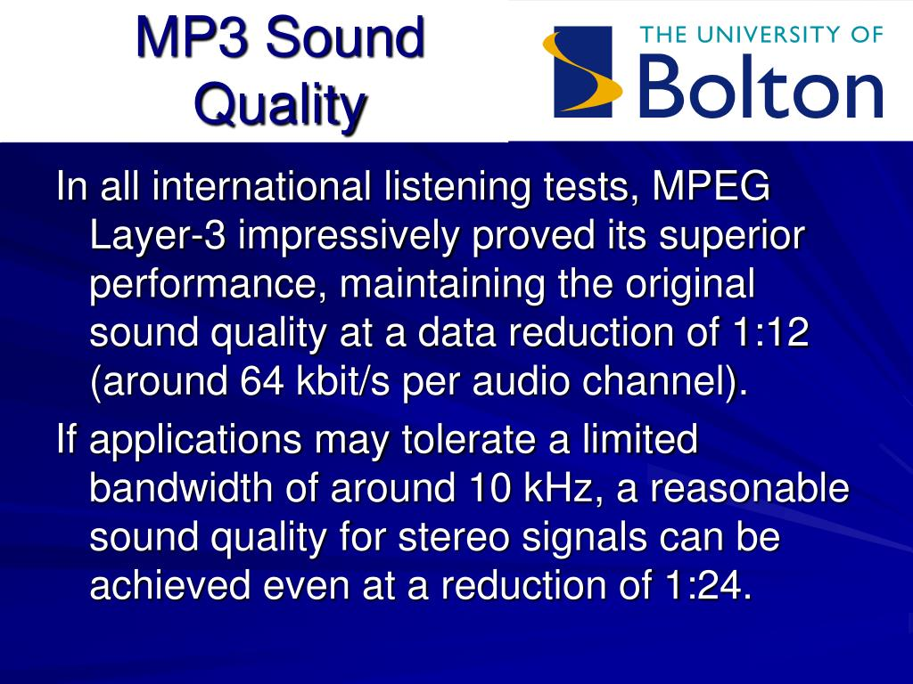MP3 Sound Quality
