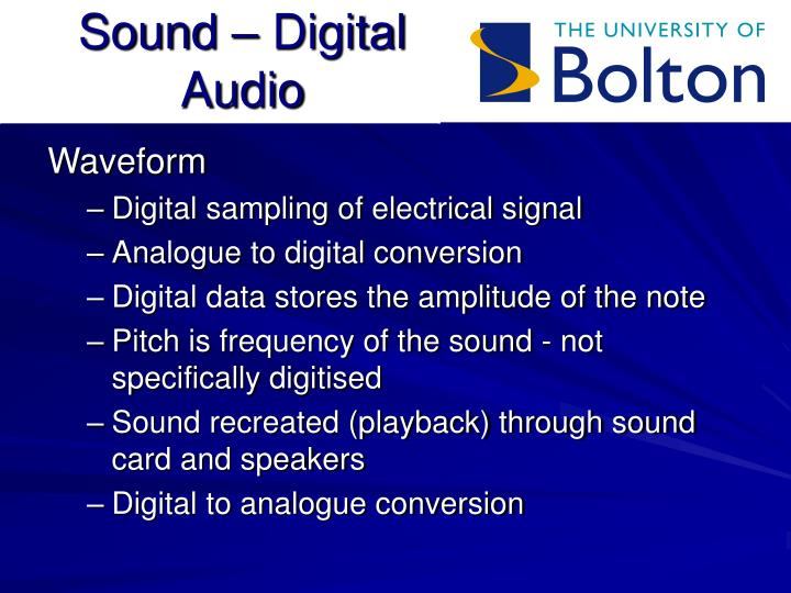 Sound digital audio