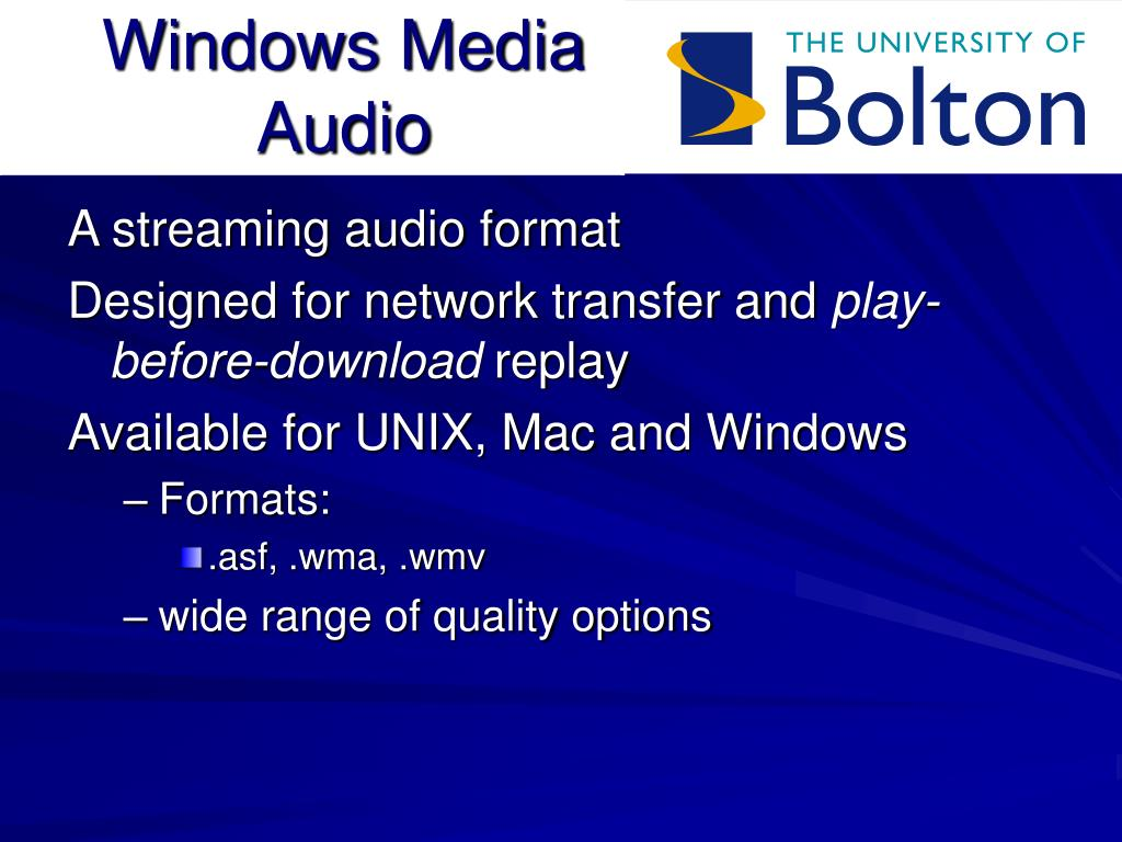 Windows Media Audio