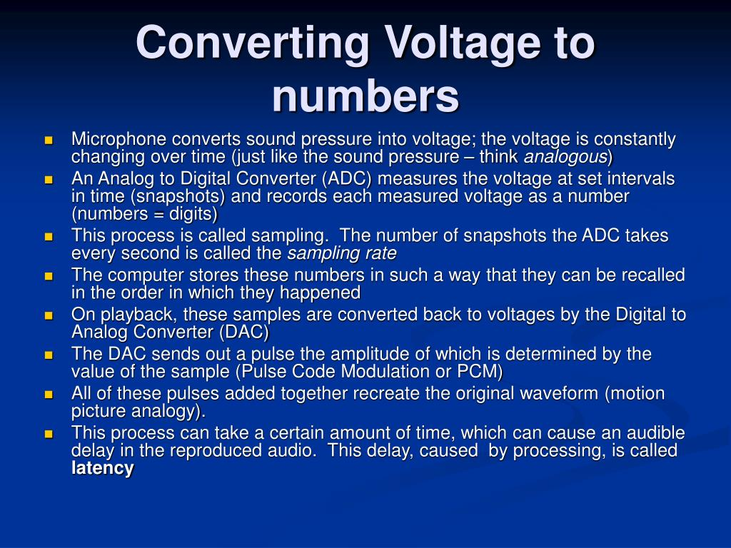 Converting Voltage to numbers