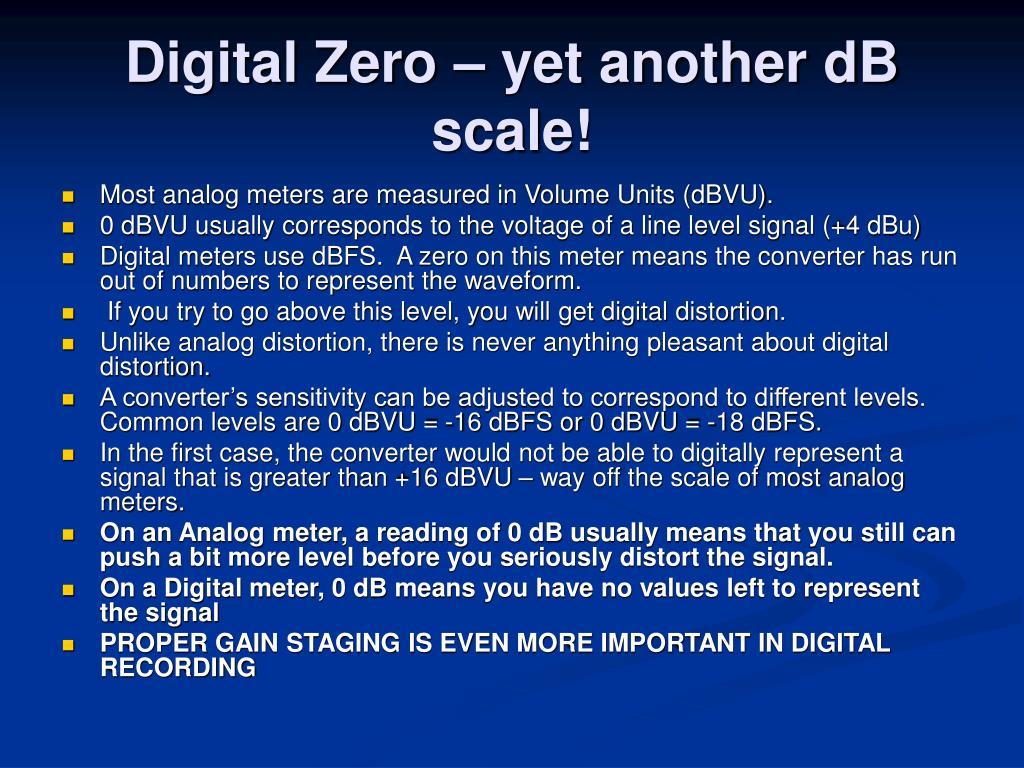 Digital Zero – yet another dB scale!