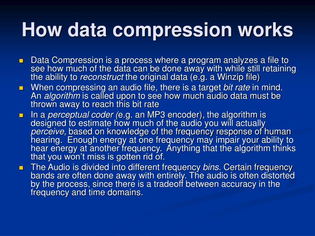 How data compression works