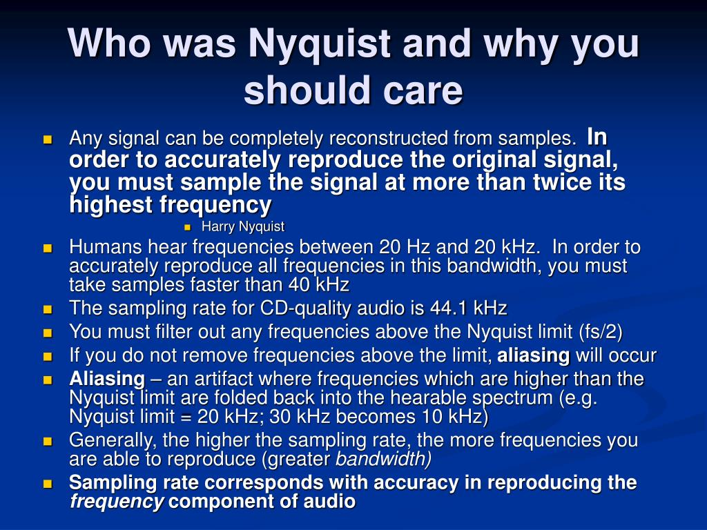 Who was Nyquist and why you should care