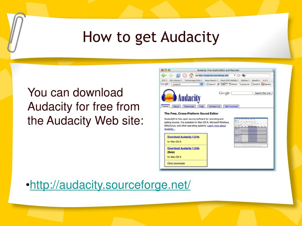 How to get Audacity