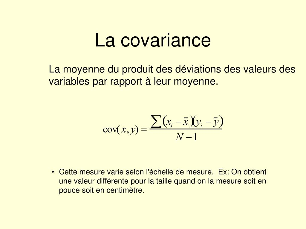 La covariance