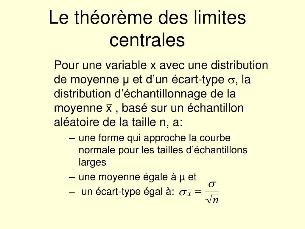 Le théorème des limites centrales