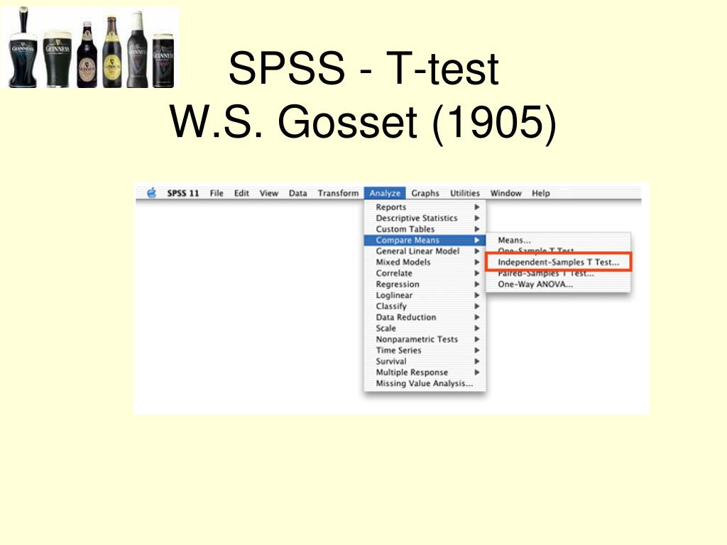 SPSS - T-test