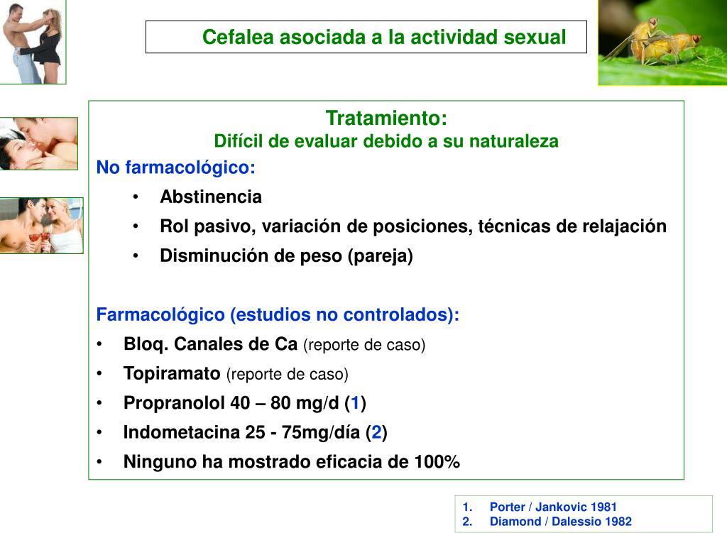 Cefalea asociada a la actividad sexual
