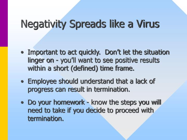 Negativity Spreads like a Virus