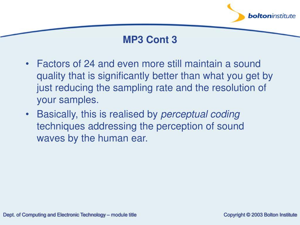 MP3 Cont 3