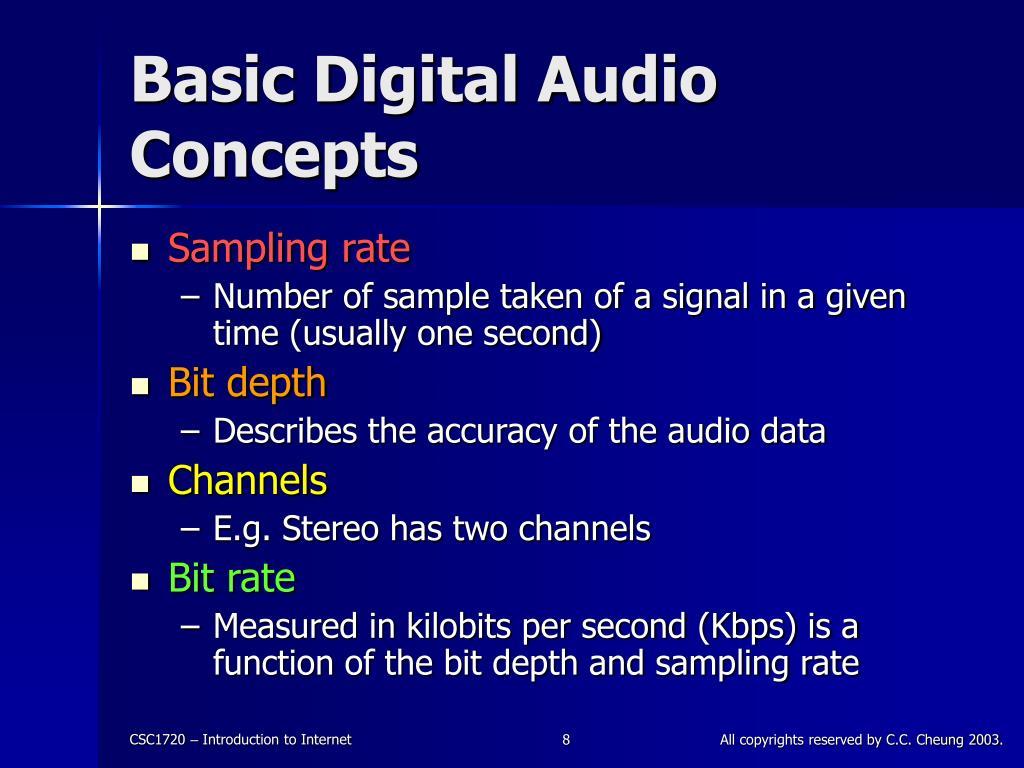 Basic Digital Audio Concepts