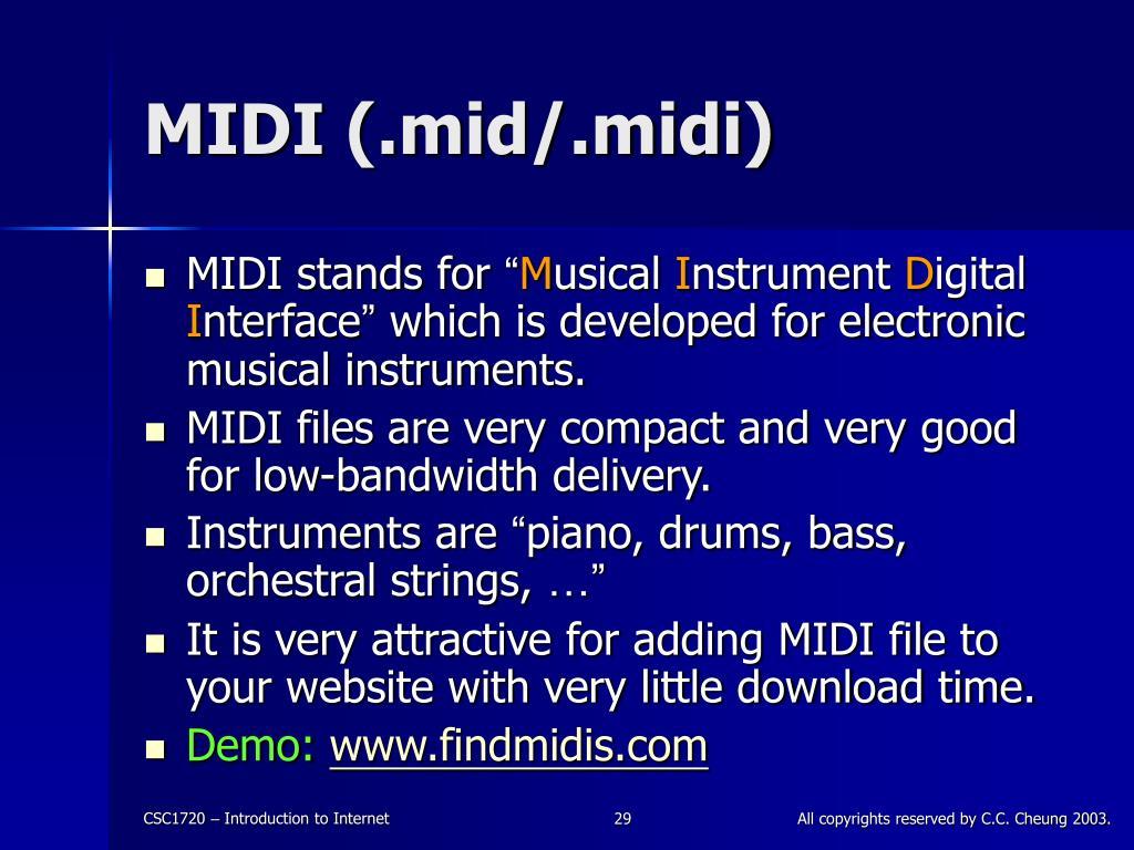 MIDI (.mid/.midi)