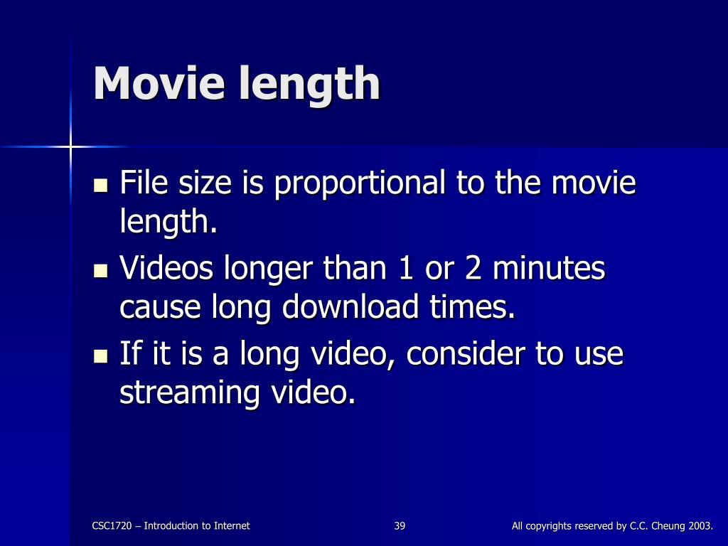 Movie length