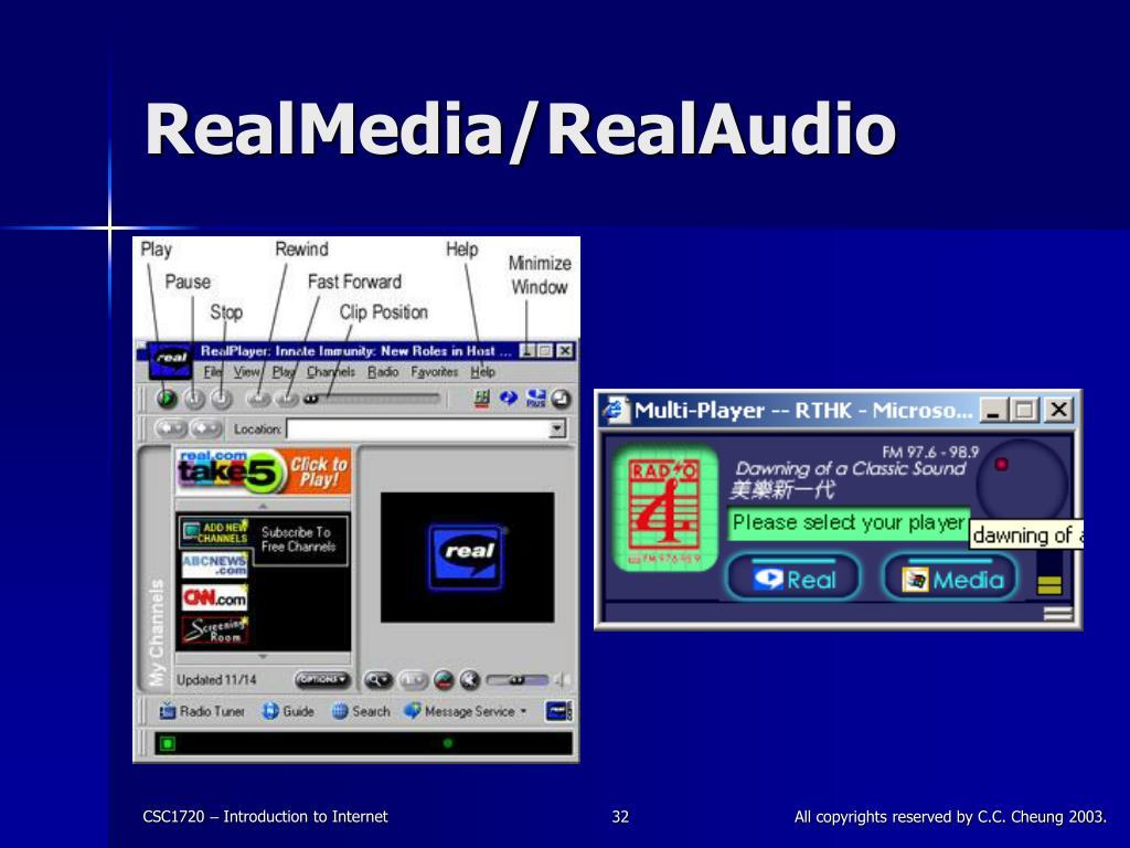 RealMedia/RealAudio