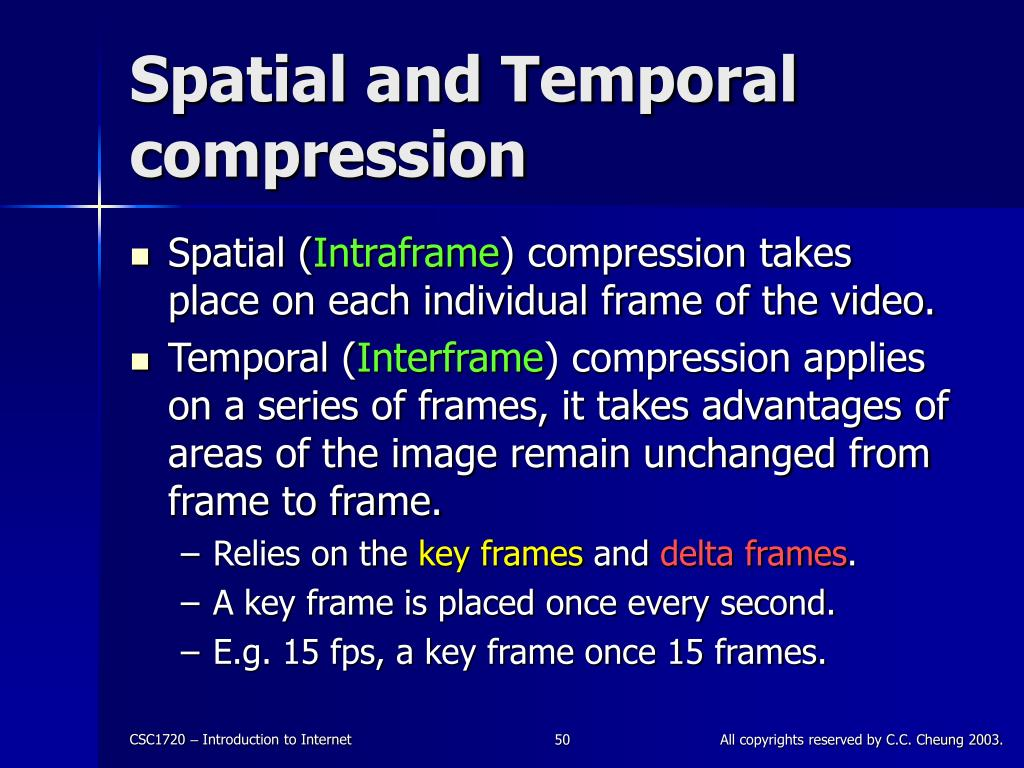 Spatial and Temporal compression