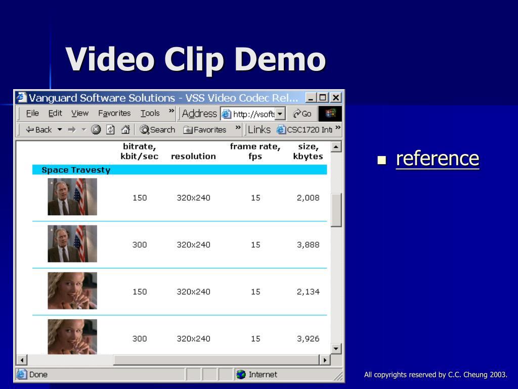 Video Clip Demo