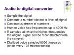 audio to digital converter
