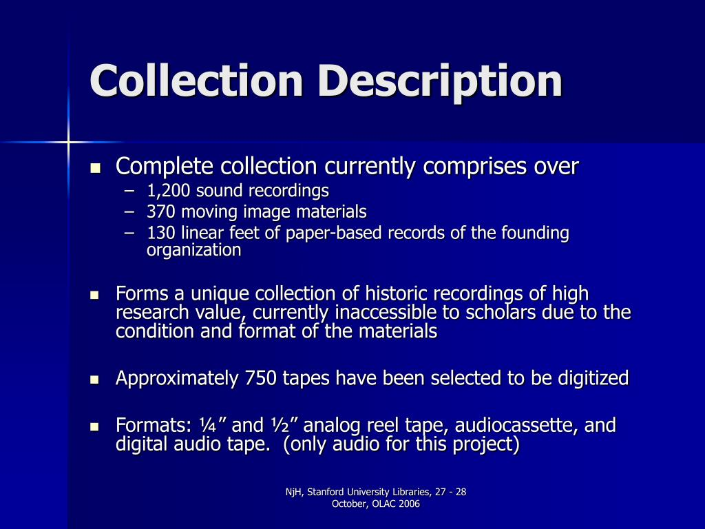 Collection Description