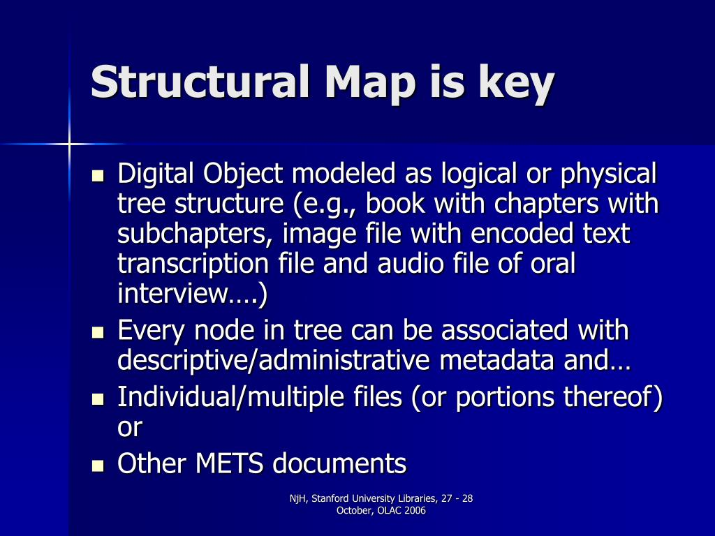 Structural Map is key