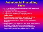 antimicrobial prescribing facts