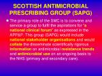 scottish antimicrobial prescribing group sapg