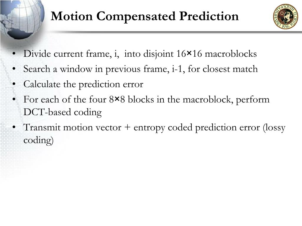 Motion Compensated Prediction