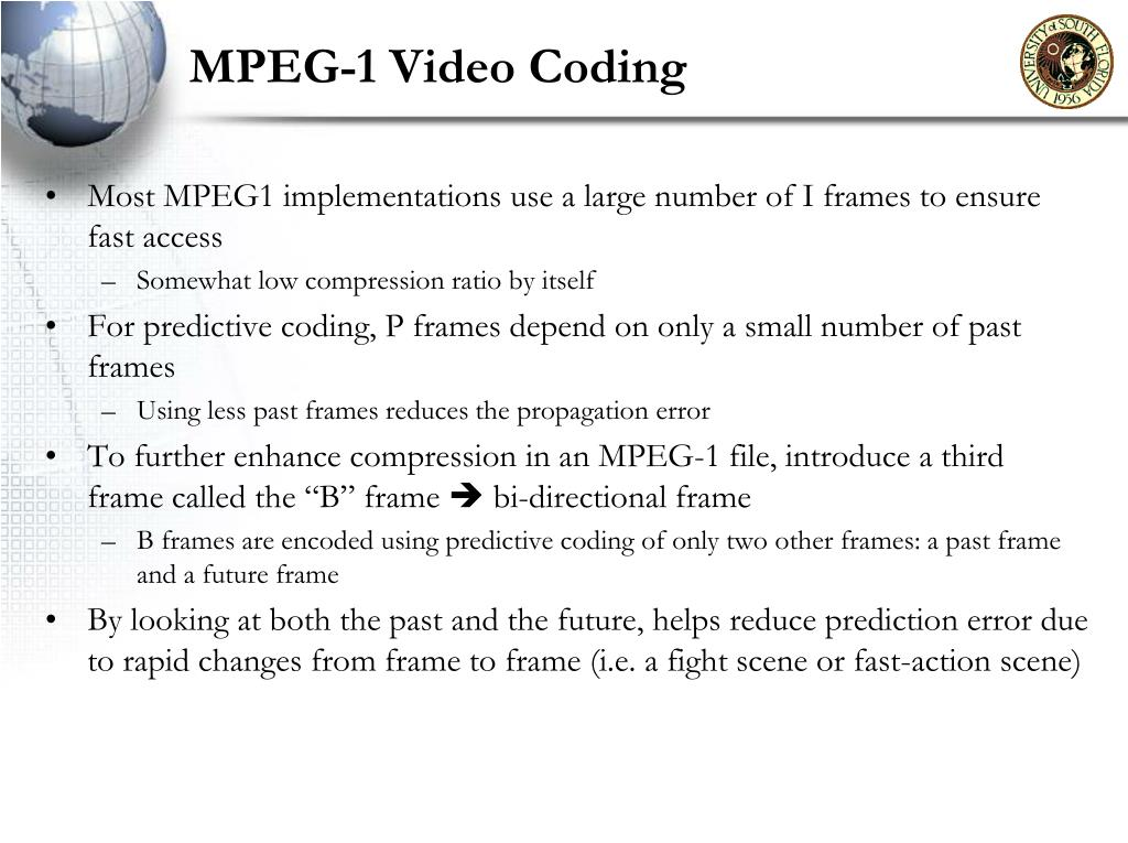 MPEG-1 Video Coding