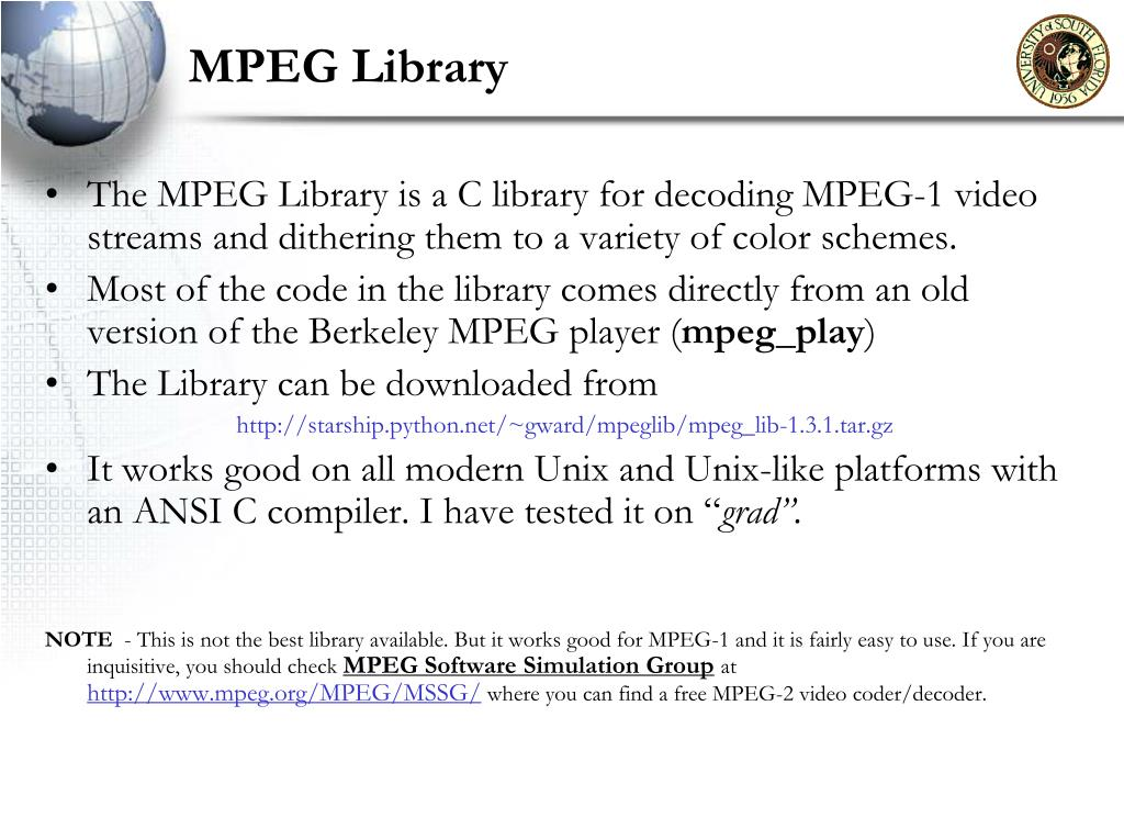MPEG Library