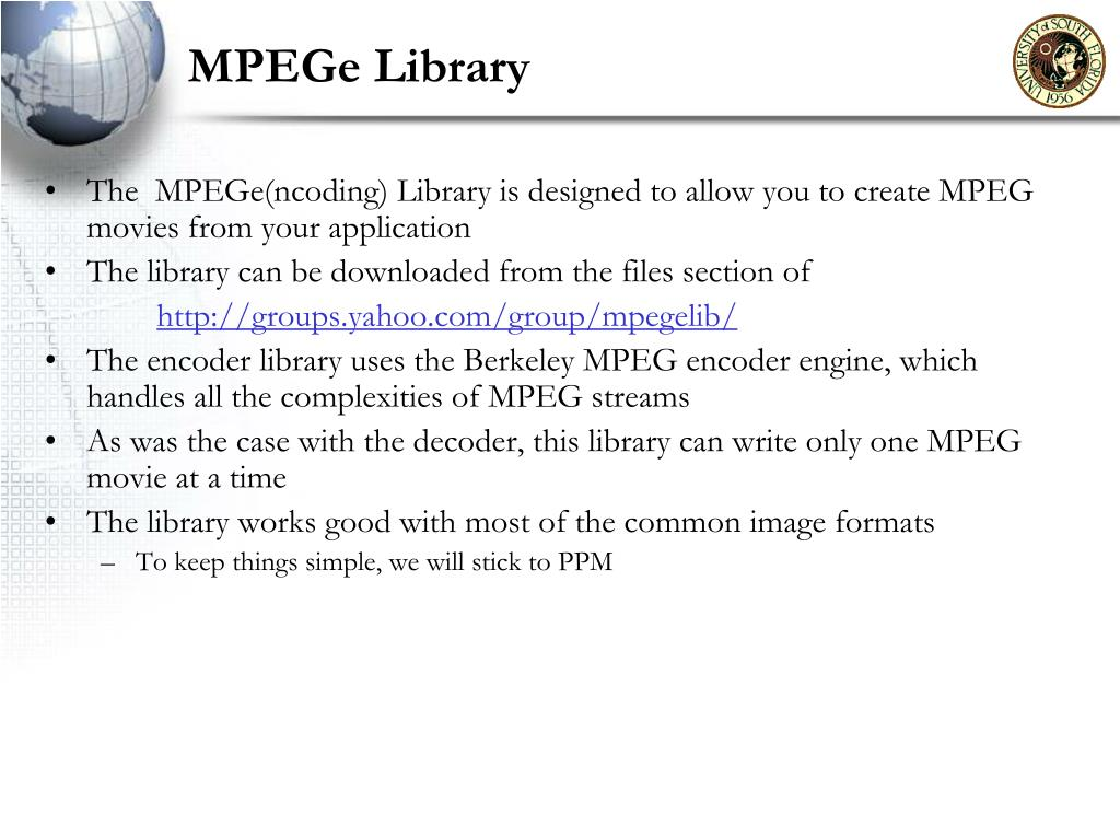 MPEGe Library