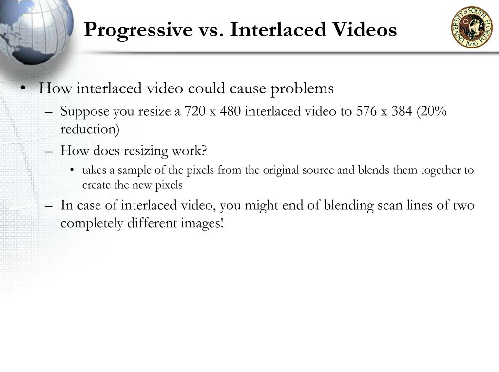 Progressive vs. Interlaced Videos