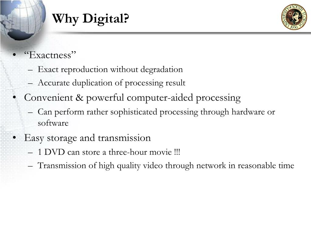 Why Digital?