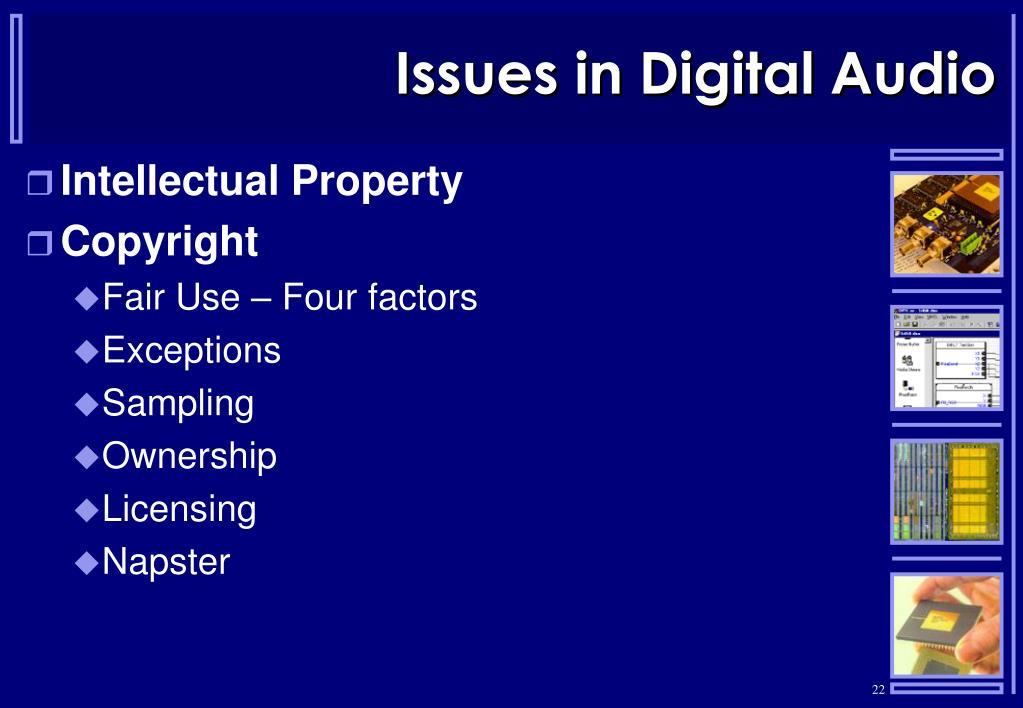 Issues in Digital Audio