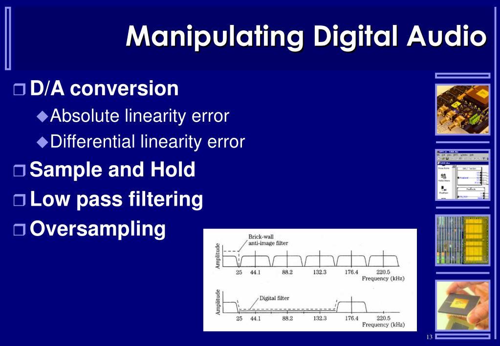 Manipulating Digital Audio