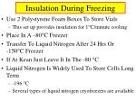 insulation during freezing