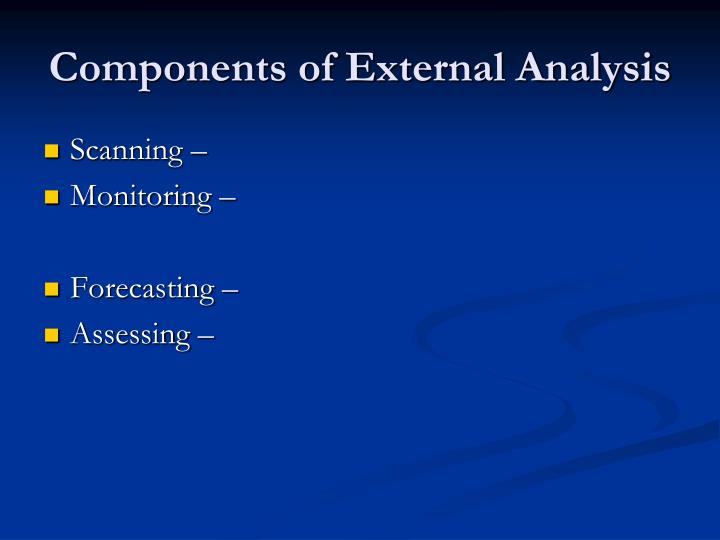 Components of External Analysis