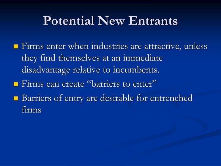 Potential New Entrants