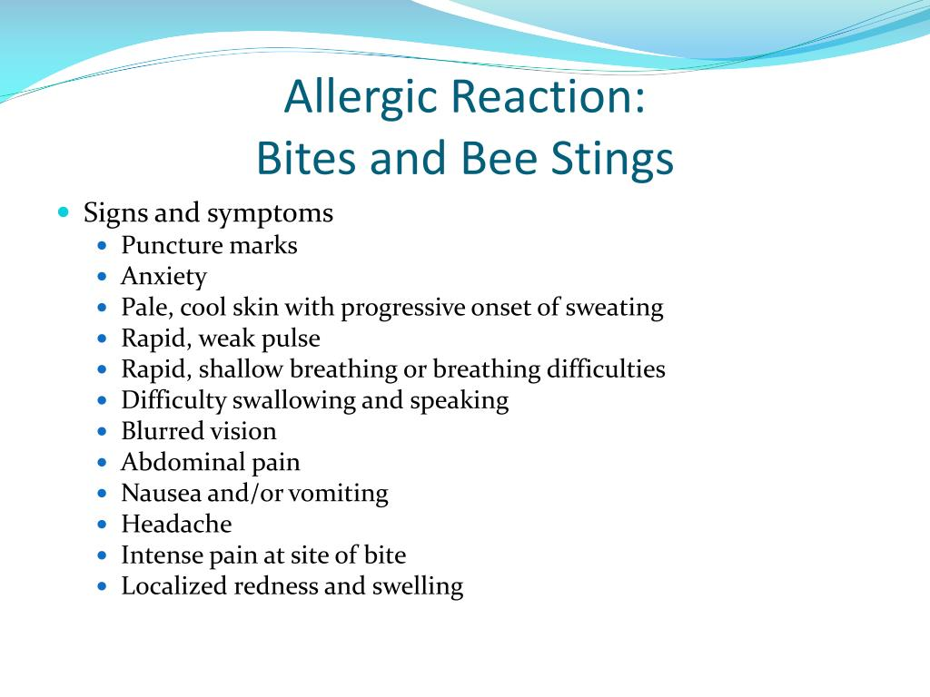 Allergic Reaction: