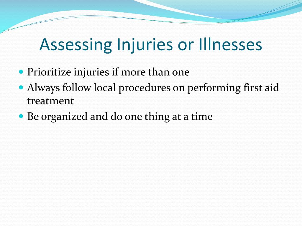 Assessing Injuries or Illnesses