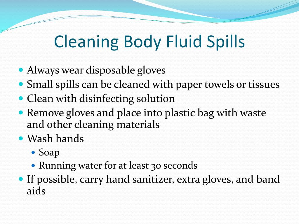 Cleaning Body Fluid Spills