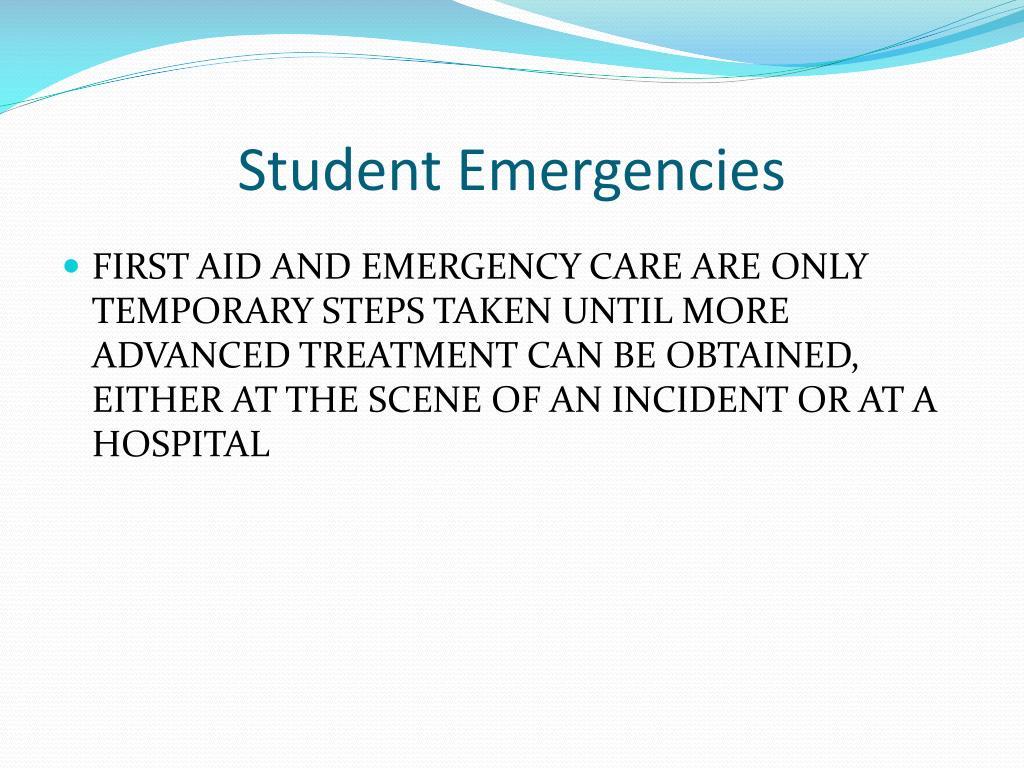 Student Emergencies