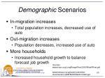demographic scenarios