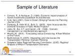 sample of literature