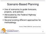 scenario based planning