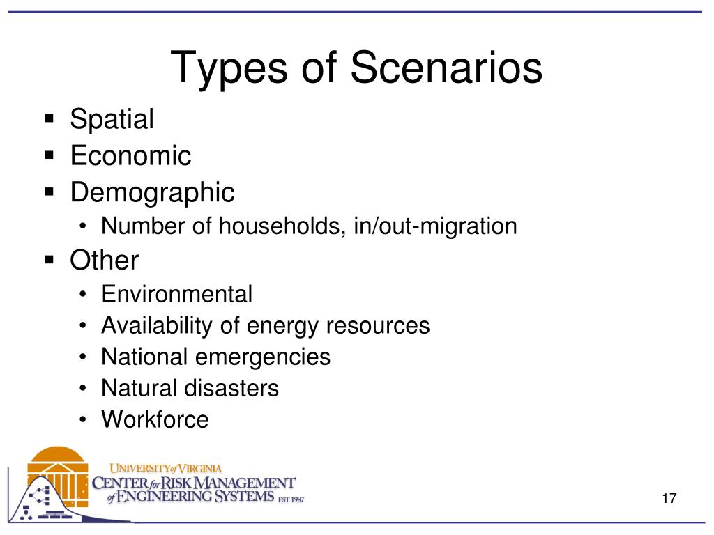 Types of Scenarios