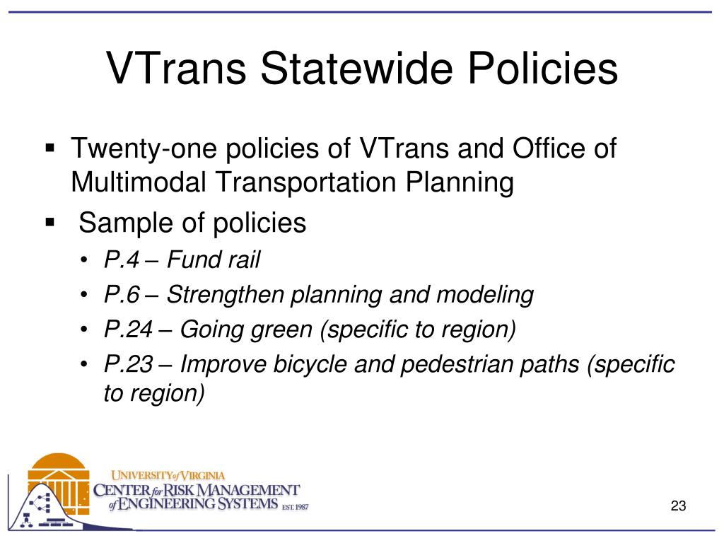 VTrans Statewide Policies