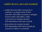 redditi diversi proventi residuali34