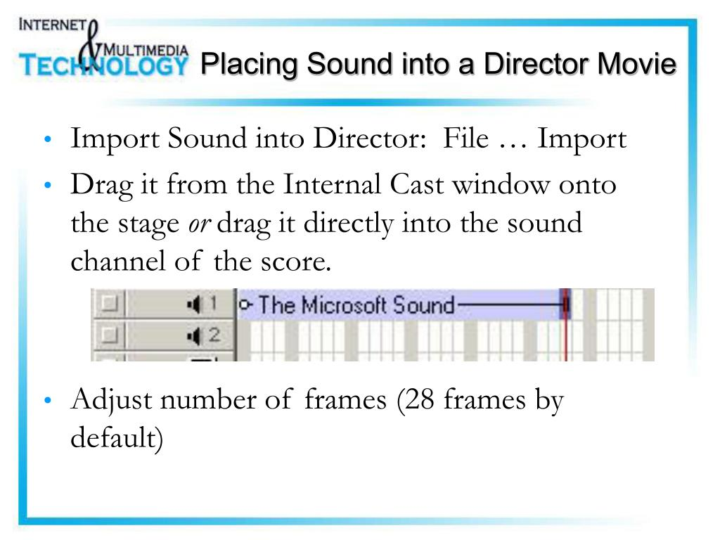 Placing Sound into a Director Movie